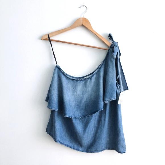 Anthropologie Tops - Cloth & Stone One Shoulder Ruffle Top - Medium